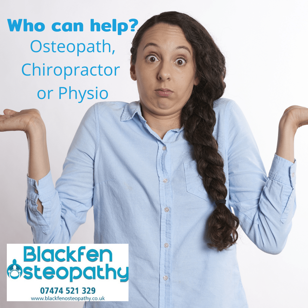 osteopath, chiropractor or physio
