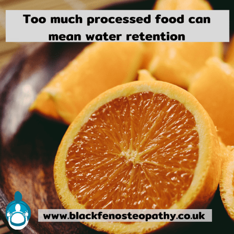Processed food = water retention